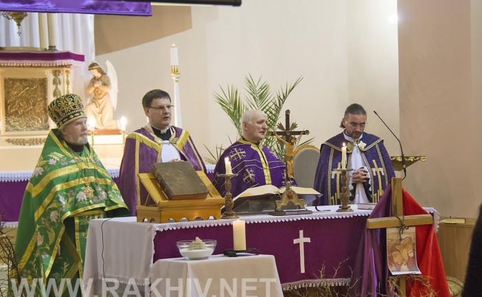 6-го березня 2016р., у Римо-Католицькій церкві м.Рахів відбулася спільна молитва. (фото)