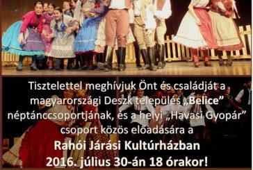 30-го липня у м.Рахів відбудеться гала-концерт угорського народного танцю. Початок:18.00к.ч. Рахівський районний будинок культури
