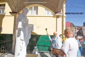 рахів_освячення_статуї Богородиці
