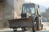 Відновлювальні роботи в м.Рахів не зупиняються. Фото від 22.08.2018.