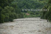 Рахів, рівень води в р.Тиса та мости. Фото 23.06.2020р. 13.30к.ч.