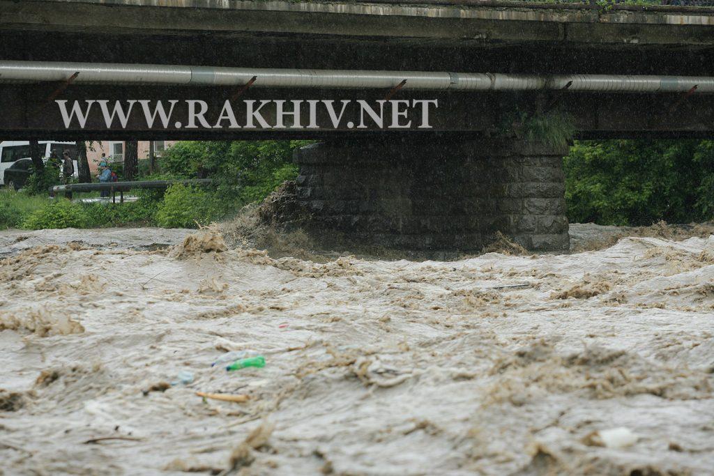 Рахів, р.Тиса, 23.06.2020. Міст вул. Миру